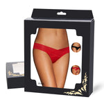 #P5153-2 Red Hollowed Out Ladies' Panty