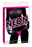 Neon Vibrating Crotchless Panty and Pasties Set Clit Stimulator (pink)