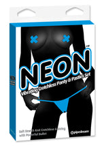 Neon Vibrating Crotchless Panty and Pasties Set