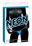 Neon Vibrating Crotchless Panty and Pasties Set Clit Stimulator (blue)