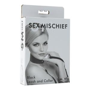 Sex & Mischief Black Leash And Collar Bondage (Box)