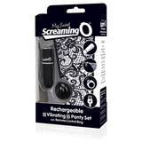 Screaming O Charged Remote Control Panty Vibe Black Clit Stimulator