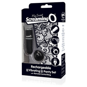 Screaming O Charged Remote Control Panty Vibe Black Clit Stimulator (box)