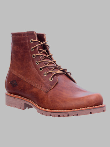 Dry Milled Leather Shoe - Brown