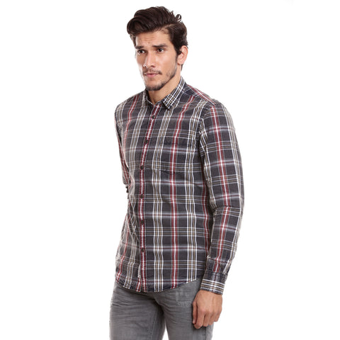 MOTOCULT Men Blue Shirt