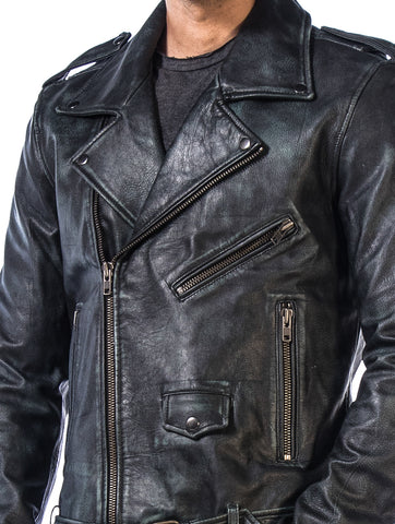 Rub Off Leather Jacket