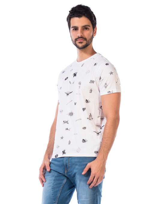 Printed T-Shirt-All Over Print