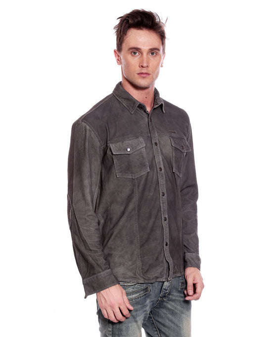 Suede Antique Leather Shirt