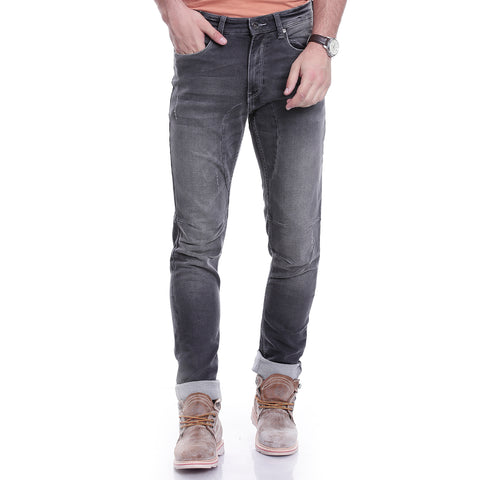 Men Grey Relaxed Fit Mid-Rise Clean Look Jeans