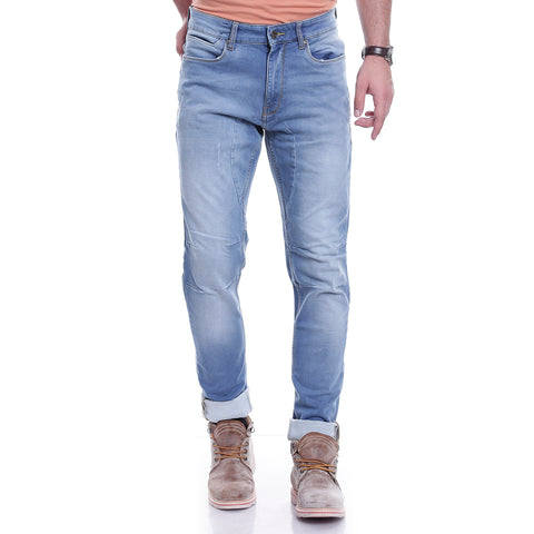 Men Blue Relaxed Fit Mid-Rise Clean Look Jeans