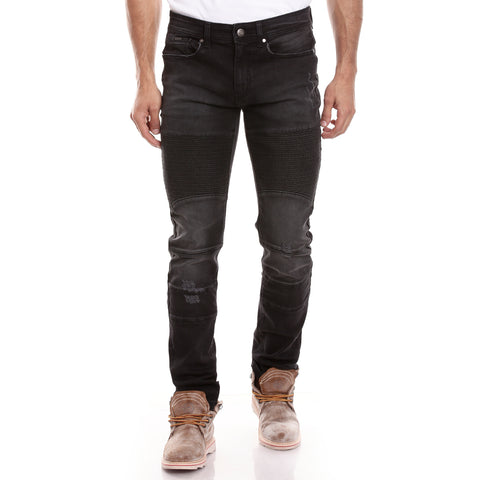 Men Black Relaxed Fit Mid-Rise Mildly Distressed Jeans