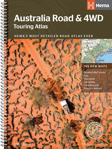 HEMA AUSTRALIA ROAD AND 4WD ATLAS AND GUIDE *FREE SHIPPING* - Ghillie Outdoors Hunting & Fishing