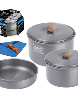 360 DEGREES Furno Large Pot Set - Ghillie Outdoors Hunting & Fishing