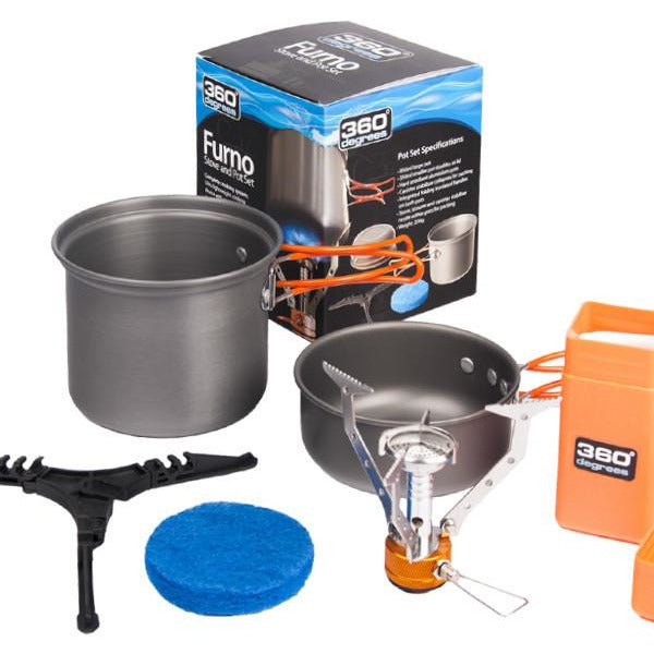 360 DEGREES Furno Stove And Pot Set - Ghillie Outdoors Hunting & Fishing