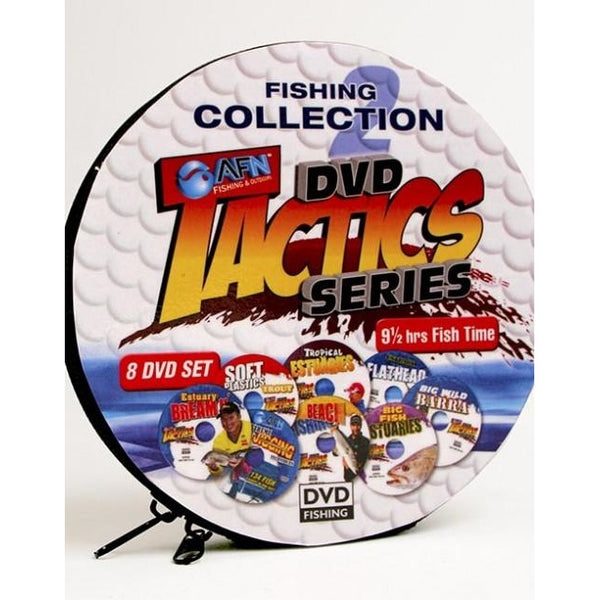AFN FISHING TACTICS 8 DVD SET IN COLLECTION CASE *CLEARANCE* - Ghillie Outdoors Hunting & Fishing