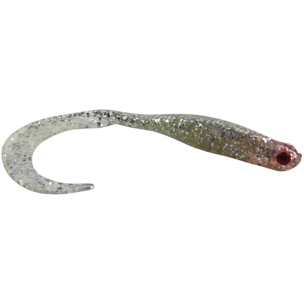 Swimerz 100mm Vibro Tail Silver Glitter scented, 5 pack - Ghillie Outdoors Hunting & Fishing