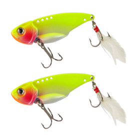 Chartreuse, Feather Blade, pack of 2