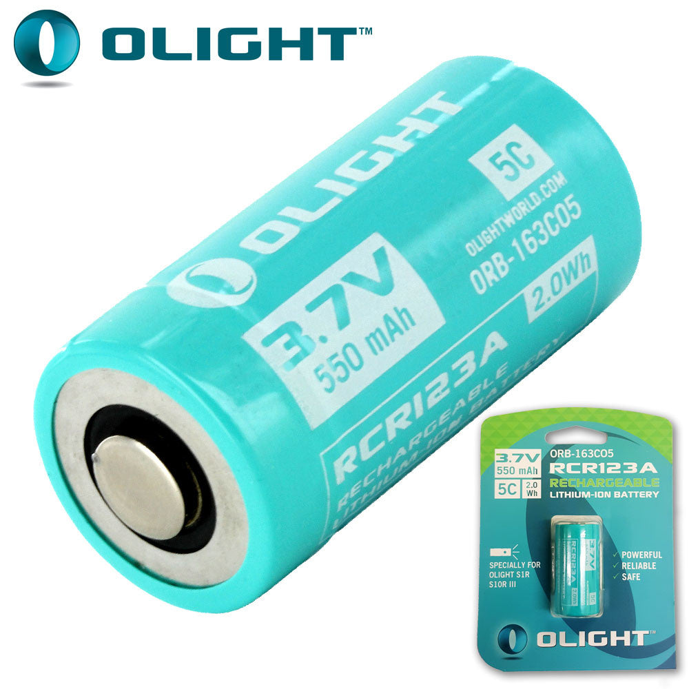 Olight 16340 Rechargeable IMR Lithium Battery (CR123 size)