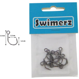 Swimerz Size 1 Big Eye Inline Lure Hooks, 10 pack - Ghillie Outdoors Hunting & Fishing