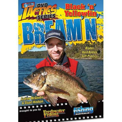 AFN FISHING TACTICS BREAM'N DVD - BLACK AND YELLOWFIN BREAM *FREE SHIPPING*