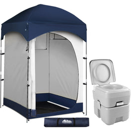 WEISSHORN 20L Outdoor Portable Toilet Camping Shower Tent Change Room Ensuite - Ghillie Outdoors Hunting & Fishing