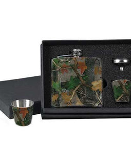 RIVERS EDGE CAMO FLASK & SHOT GLASSES