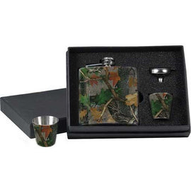 RIVERS EDGE CAMO FLASK & SHOT GLASSES - Ghillie Outdoors Hunting & Fishing