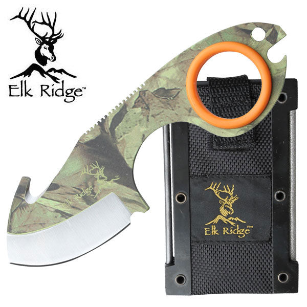Elk Ridge Outdoor Knife with Gut Hook - Free Shipping - Ghillie Outdoors Hunting & Fishing