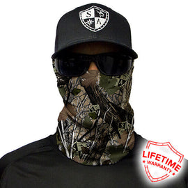 SA Company Face Shield - SA Forest Camo Dregs - Ghillie Outdoors Hunting & Fishing
