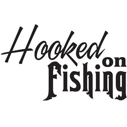 Hooked On Fishing Vinyl Decal **FREE SHIPPING**