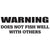Warning Does Not Fish Well With Others Vinyl Decal **FREE SHIPPING** - Ghillie Outdoors Hunting & Fishing