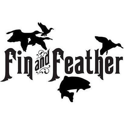 Fin and Feather Large Vinyl Decal **FREE SHIPPING**