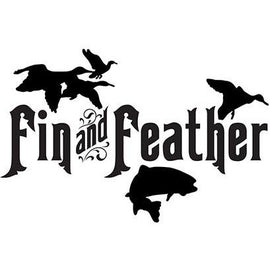 Fin and Feather Large Vinyl Decal **FREE SHIPPING** - Ghillie Outdoors Hunting & Fishing