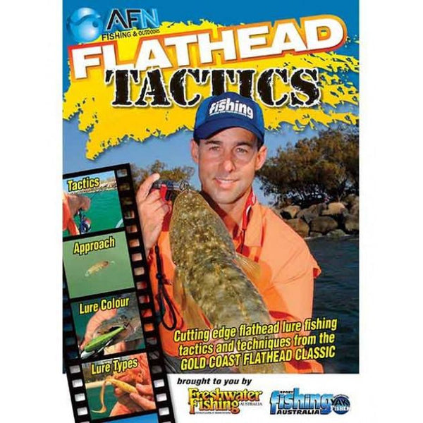 AFN FLATHEAD TACTICS FISHING DVD HOW TO GUIDE *FREE SHIPPING* - Ghillie Outdoors Hunting & Fishing