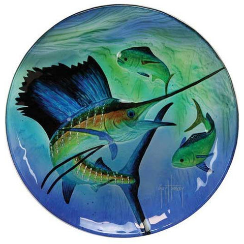 Assorted Guy Harvey Glass Platter Plates