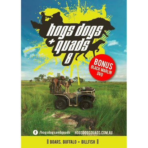 HOGS DOGS & QUADS PART 8 - WILD PIG HUNTING DVD *FREE SHIPPING*