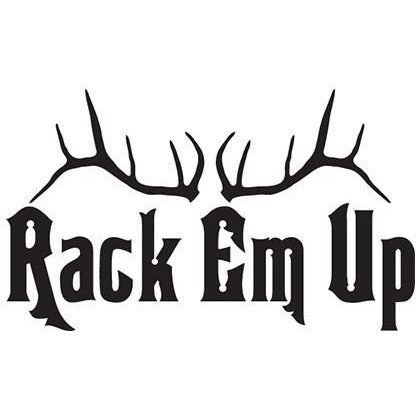 Rack em up antlers Vinyl Decal **FREE SHIPPING** - Ghillie Outdoors Hunting & Fishing