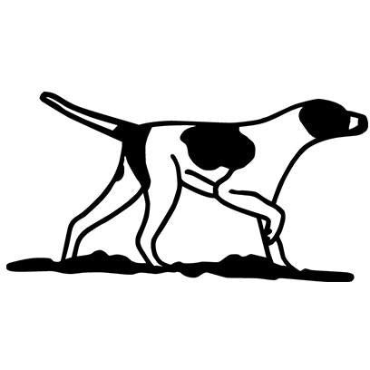 Outline of Pointer dog Vinyl Decal **FREE SHIPPING**