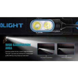 Olight HS2 Rechargeable Dual LED Headlamp, 400Lm - Free Shipping