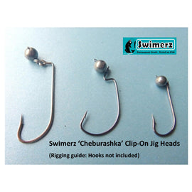 Swimerz 3gm Cheburashka Clip-On Jig Head, Tungsten 12 pack - Ghillie Outdoors Hunting & Fishing