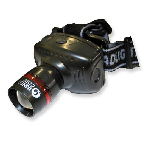 Innercore Black Zoom LED Headlamp 80Lm