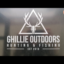 Ghillie Outdoors Logo Vinyl Cut Decal **FREE SHIPPING** - Ghillie Outdoors Hunting & Fishing