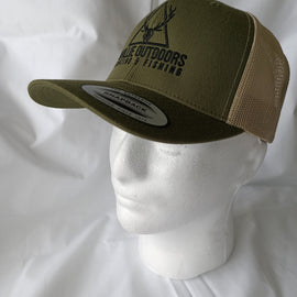 Ghillie Outdoors Logo Olive Green Trucker Cap Snapback