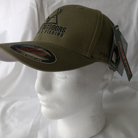 Ghillie Outdoors Logo Olive Green Flexfit Cap