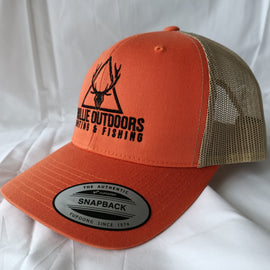 Ghillie Outdoors Logo Hi Vis Orange Trucker Cap Snapback - Ghillie Outdoors Hunting & Fishing