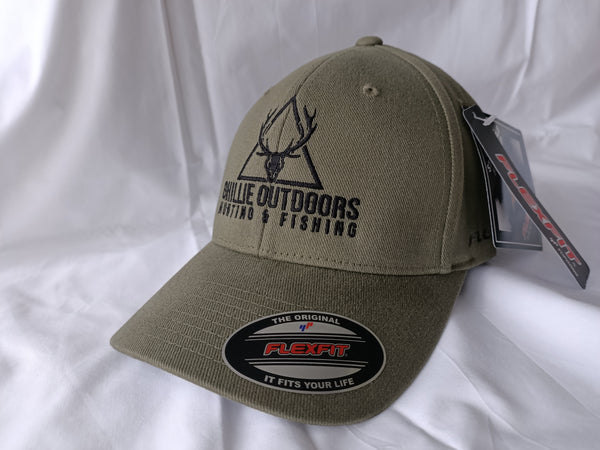 Ghillie Outdoors Logo Olive Green Flexfit Cap - Ghillie Outdoors Hunting & Fishing