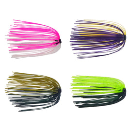 Dekoi Jigging Skirts, Metallic Pink/White, 5 pack - Ghillie Outdoors Hunting & Fishing
