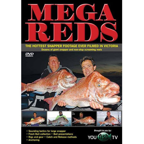 MEGA REDS DVD BY YOUFISH TV *FREE SHIPPING*