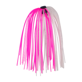Dekoi Jigging Skirts, Metallic Pink/White, 5 pack