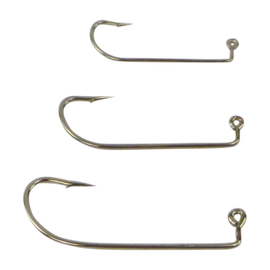 Swimerz 0/2 Offset Shank Jig Hook, O'Shaunessy Style, Nickel coated, Value Pack of 25 - Ghillie Outdoors Hunting & Fishing